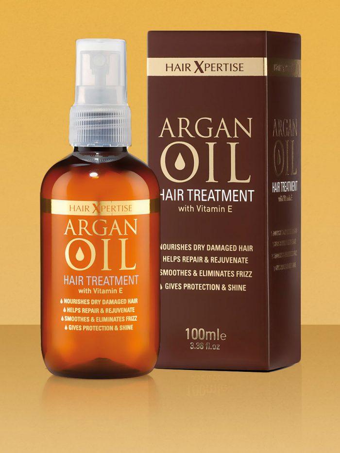 HairXpertise Argan Oil 100ml Bottle and Box